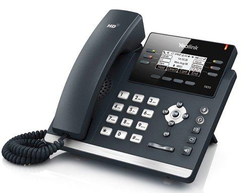 IP-telefon - Yealink T42G med display og 3 samtidige samtaler