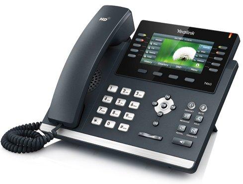 IP-telefon - T46G med farvedisplay og 6 samtidige samtaler