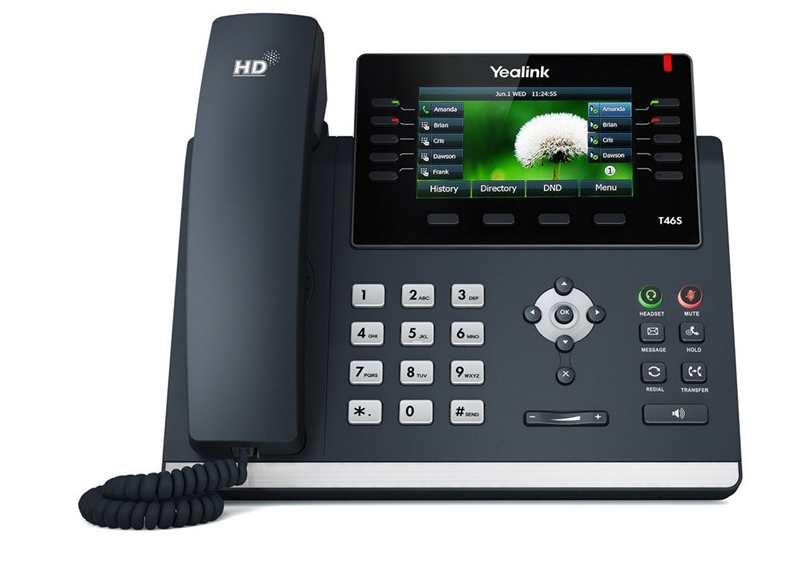 IP-telefon - Yealink T46S med farvedisplay