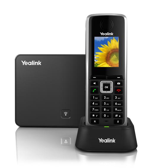 Trådløs DECT-telefon - Yealink W52P med op til 5 håndsæt med farvedisplay