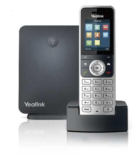 Trådløs  DECT-telefon - W53P med op til 8 håndsæt med farvedisplay