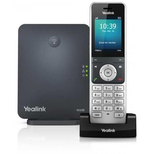 Trådløs  DECT-telefon - Yealink W60P med op til 8 håndsæt med farvedisplay
